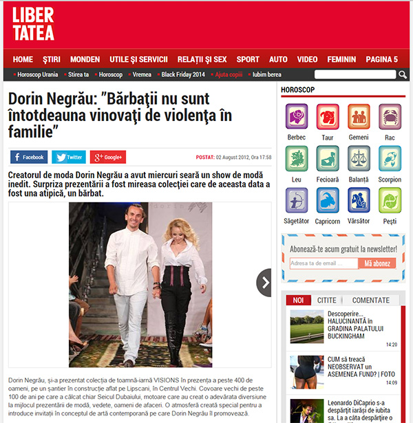 """Dorin Negrău: """"Bărbații nu sunt întotdeauna vinovați de violența în familie"""""""