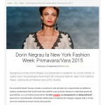 Dorin Negrau la New York Fashion Week