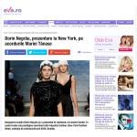 Prezentare la New York, pe acordurile Mariei Tanase