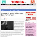 Un designer roman la Mercedes-Benz Fashion Week