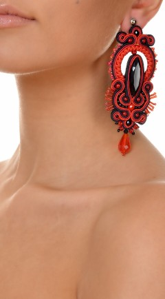 earrings DUALITY red01