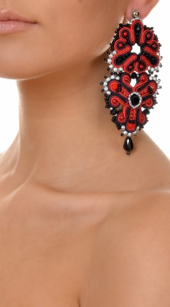 earrings DUALITY red02